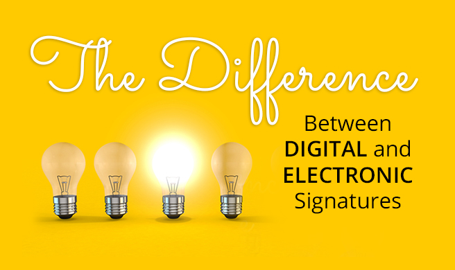 Digital Signature and Electronic Signature