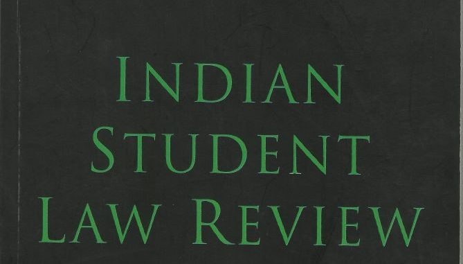 Indian Student Law Review