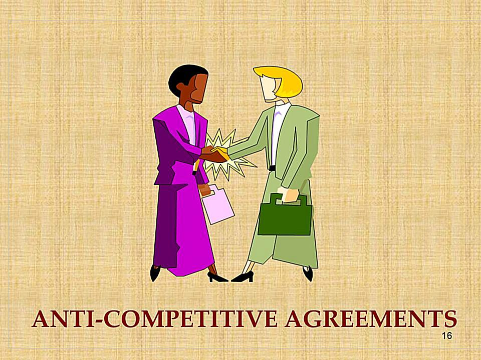 Anti Competitive Agreements Under Competition Law
