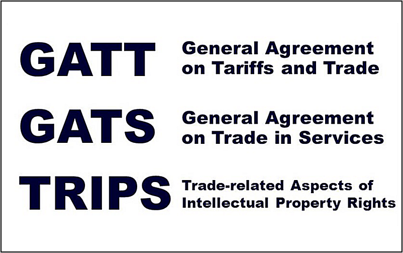 Wto Agreements Gatt Gats And Trips