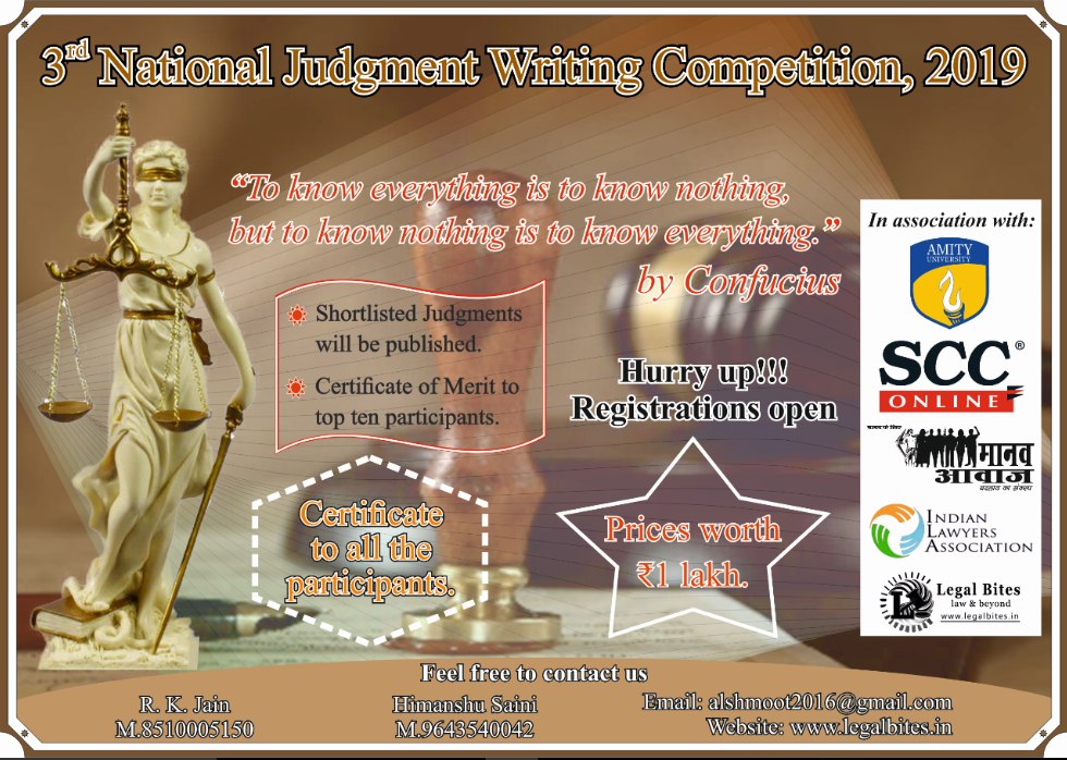 3rd National Judgment Writing Competition 2019