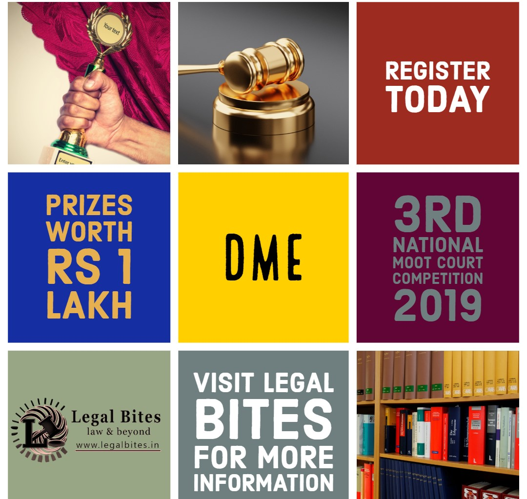 3rd DME National Moot Court Competition, 2019