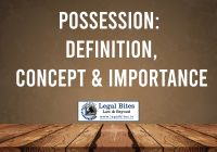 Possession: Definition, Concept & Importance