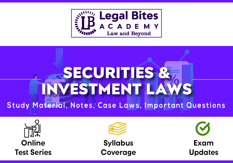 Securities and Investment Laws