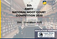 5th Amity National Moot Court Competition, 2020