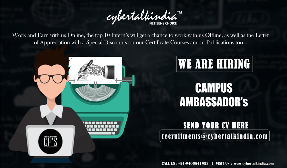 CYBERTALKINDIA Campus Associate Program 2020