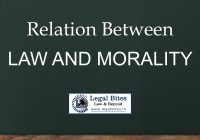 Relation between Law and Morality