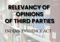 Relevancy of Opinions of Third Parties