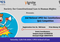 2nd National UPES SOL Constitutional Law Quiz Competition 2020