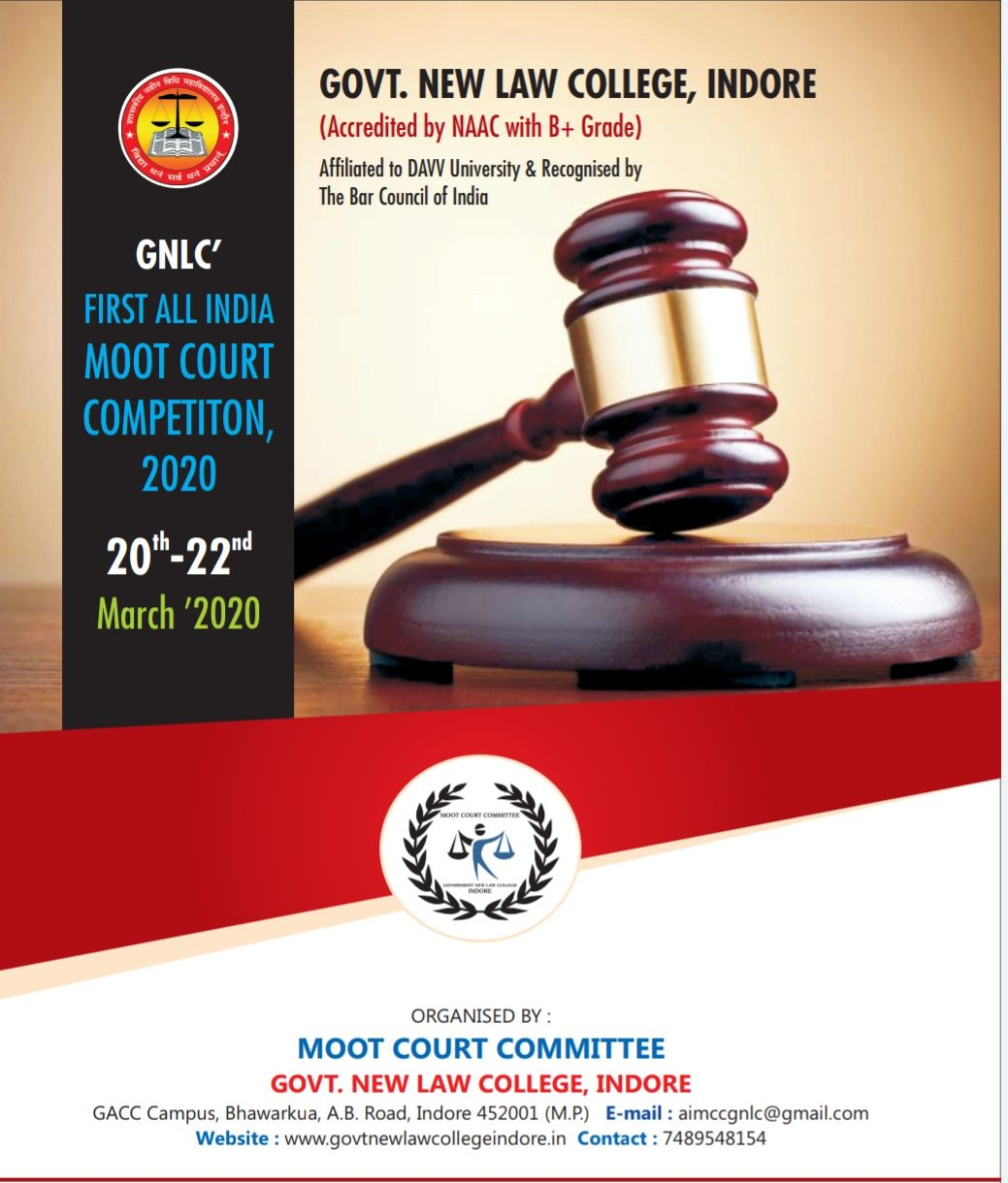 GNLC First All India Moot Court Competition 2020