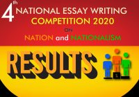 Results: 4th National Essay Writing Competition 2020