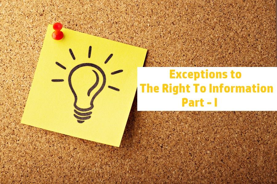 RTI Exceptions I