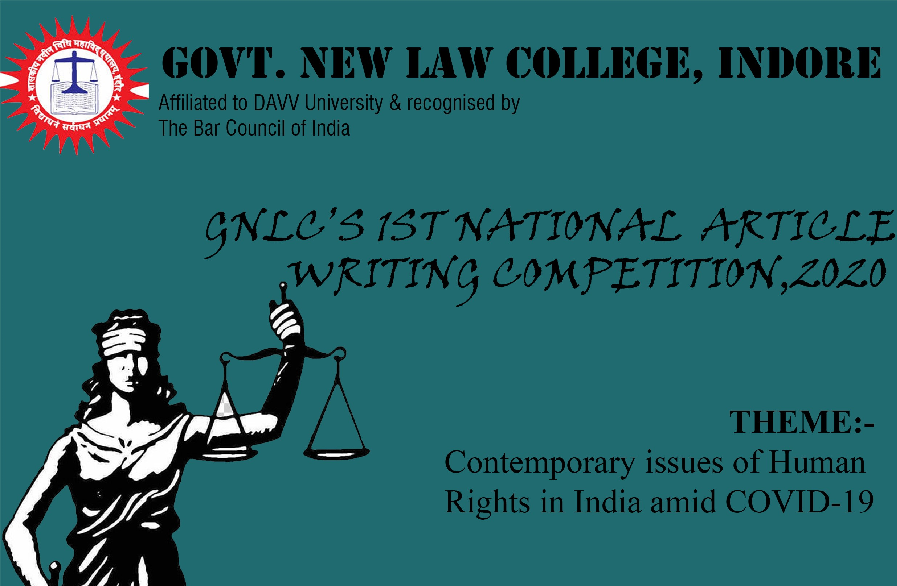 1st National Article Writing Competition GNLC Indore
