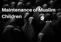 Maintenance of Muslim Children