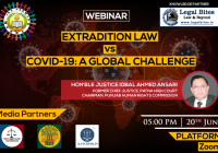 Webinar on Extradition Law vs COVID-19 A Global Challenge