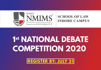 NMIMS Indore 1st National Debate Competition