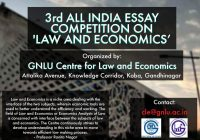 3rd All India Essay Competition on Law and Economics | GNLU
