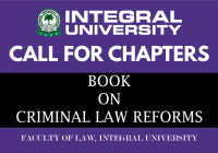 Call for Chapters: Book on Criminal Law Reforms by Integral University