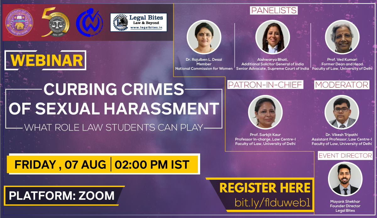 Curbing Crimes of Sexual Harassment What Role Law Students Can Play
