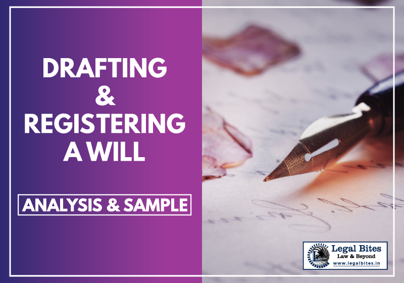 Drafting and Registering a Will Analysis and Sample