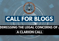 RSRR Call for Blogs Addressing the Legal Concerns of AI: A Clarion Call