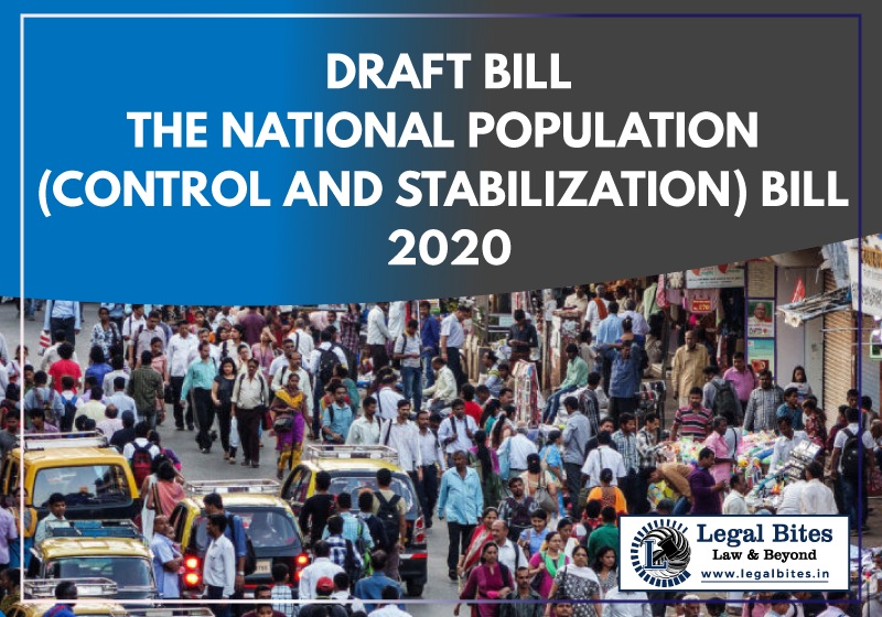 The National Population (Control and Stabilization) Bill 2020 Draft Bill