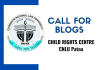 Call for Blogs: Child Rights Centre CNLU Patna