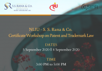 Certificate Workshop on Patent and Trademark Law | NLIU-S.S. Rana & Co.