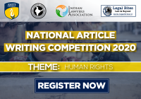 1st National Article Writing Competition on Human Rights