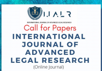 Call for Papers: IJALR Volume 1 Issue I
