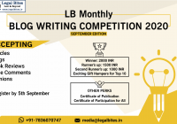 Legal Bites Monthly Blog Writing Competition September 2020