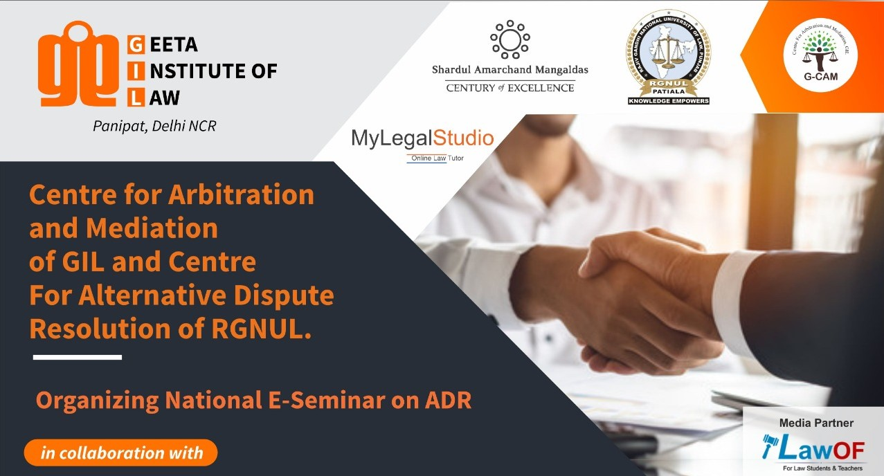 National E seminar on Development of Arbitration and Mediation Regime in India