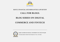 Call for Blogs: RGNUL RFMLR Sidebar Blogs on Digital Commerce and FinTech