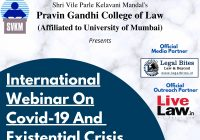 International Webinar on Covid-19 and Existential Crisis | SVKM'S Pravin Gandhi College Of Law