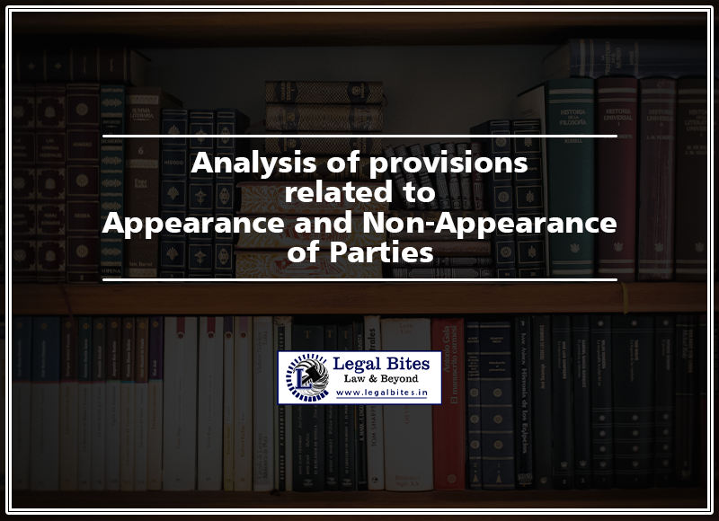 Appearance and Non-Appearance of Parties