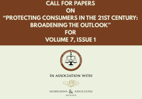 "Call for Papers on ""Protecting Consumers in the 21st Century: Broadening the Outlook"" 
