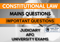 Constitutional Law Mains Questions Series