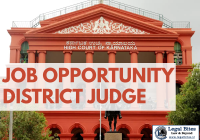 Job District Judge Karnataka High Court