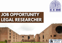 Job: Legal Researcher at IIM Ahmedabad