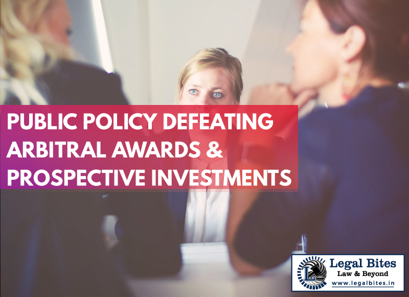 Public Policy Defeating Arbitral Awards and Prospective Investments