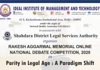 Rakesh Aggarwal Memorial National Debate Competition 2020 | IIMT & School of Law
