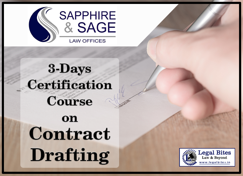 3 Day Certificate Course on Contract Drafting