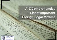 A Z Comprehensive List of Important Foreign Legal Maxims