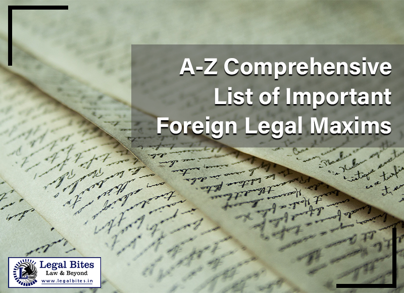 A Z Comprehensive List of Important Foreign Legal