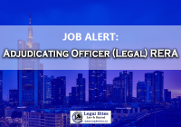 JOB: Adjudicating Officer(Legal) at RERA for NCT of Delhi