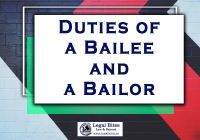 duties of a bailee and a bailor