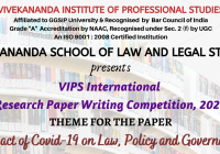 International Research Paper Writing Competition 2020 VIPS