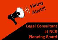 Job: Legal Consultant at NCR Planning Board