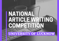National Article Writing Competition University of Lucknow