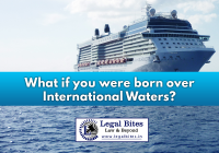 born over international waters